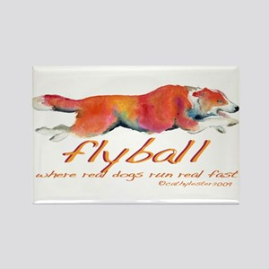 Real dogs Real fast Rectangle Magnet