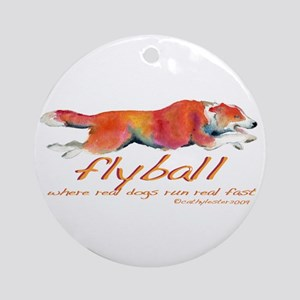 Real dogs Real fast Ornament (Round)