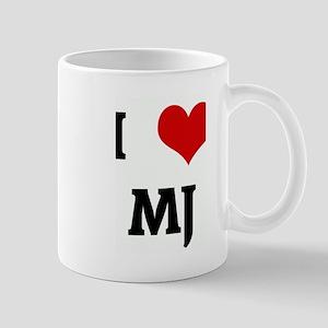 I Love MJ Mug