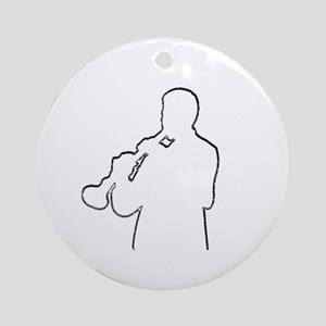 The Clarinetist Ornament (Round)