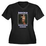 Dracula! Women's Plus Size V-Neck Dark T-Shirt