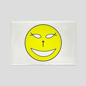 Jesus Happy Face Rectangle Magnet