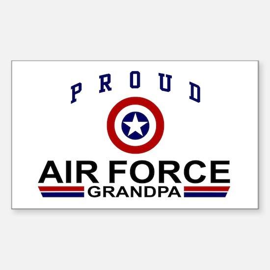 Proud Air Force Grandpa Rectangle Decal