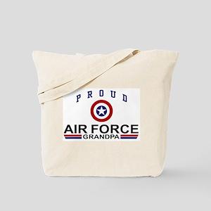 Proud Air Force Grandpa Tote Bag