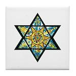 Jewish Star Tile Coaster