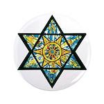 """Jewish Star 3.5"""" Button"""