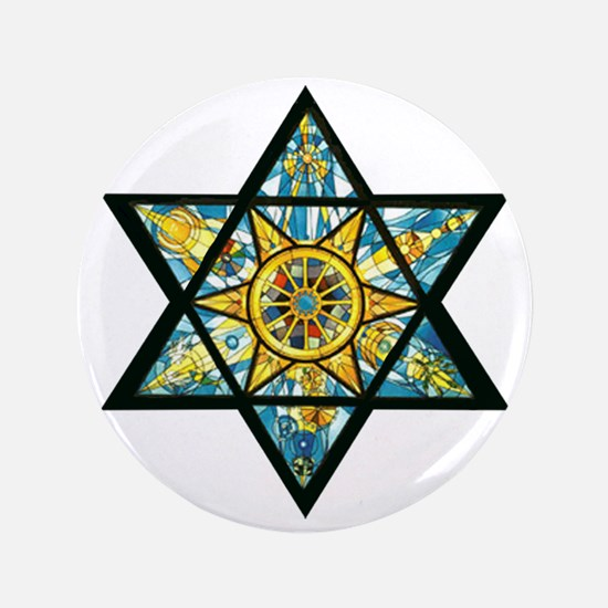 "Jewish Star 3.5"" Button"