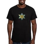 Jewish Star Men's Fitted T-Shirt (dark)