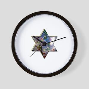 Jewish Star Wall Clock