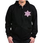 Jewish Star Zip Hoodie (dark)