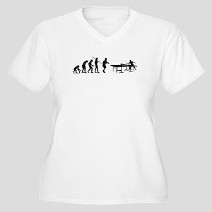 Pong Evolution Women's Plus Size V-Neck T-Shirt
