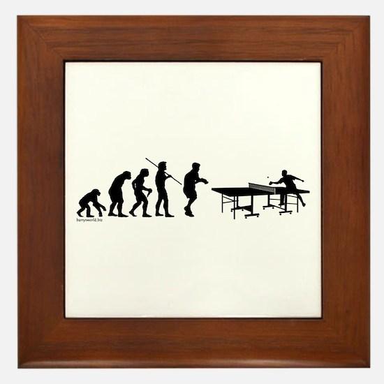Pong Evolution Framed Tile