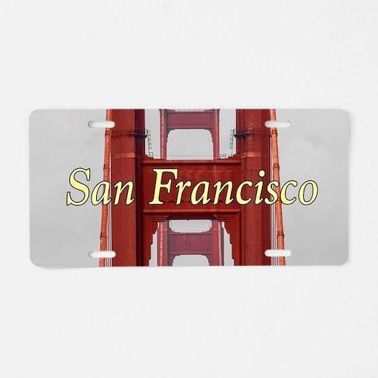 Golden Gate Bridge San Fran Aluminum License Plate