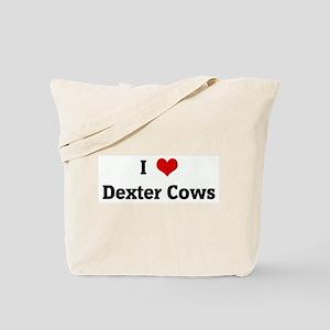 I Love Dexter Cows Tote Bag
