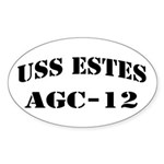USS ESTES Sticker (Oval 10 pk)