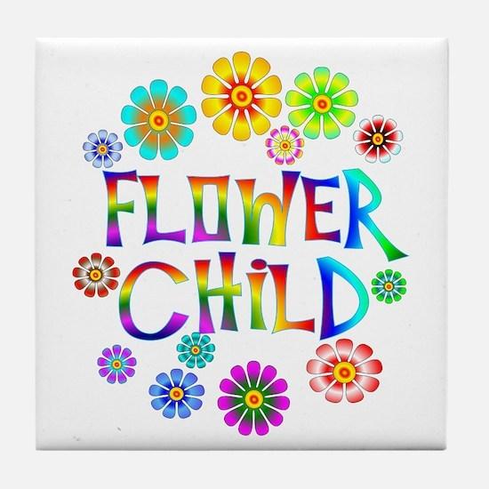 Flower Child Tile Coaster