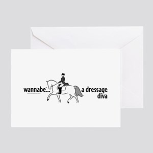 wannabe ... a dressage diva Greeting Card
