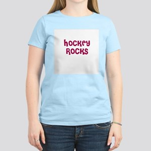 HOCKEY ROCKS Women's Pink T-Shirt