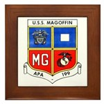 USS MAGOFFIN Framed Tile
