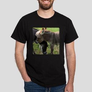 Baby Mini Donkey Hug Black T-Shirt
