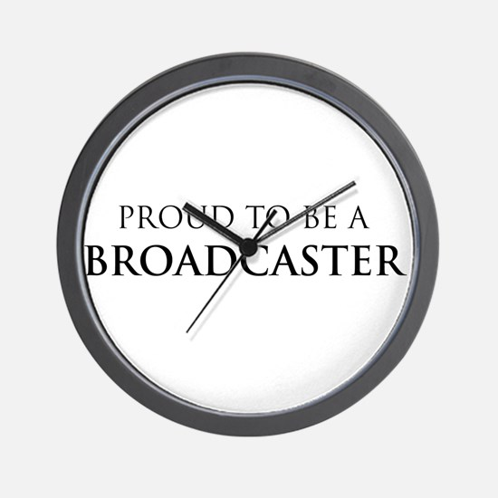 Proud Broadcaster Wall Clock