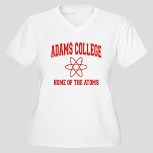 Adams College Women's Plus Size V-Neck T-Shirt