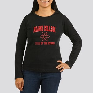 Adams College Women's Long Sleeve Dark T-Shirt