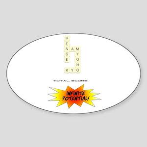 myoho flow Oval Sticker