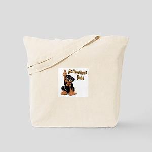 Rottweilers Rule Tote Bag