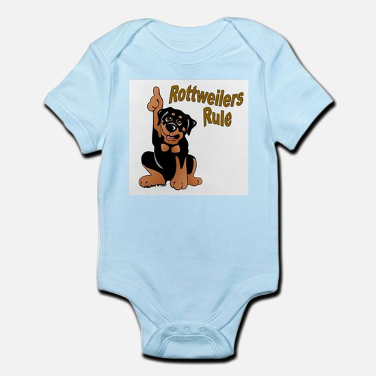 Rottweilers Rule Infant Creeper