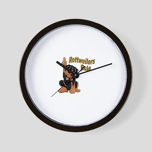 Rottweilers Rule Wall Clock