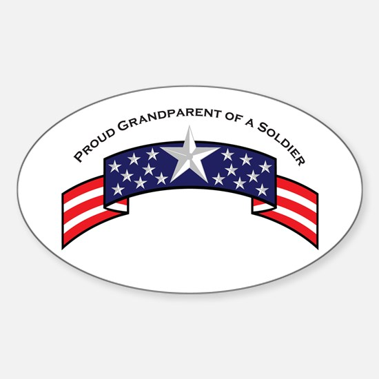 Proud Grandparent of a Soldie Oval Decal