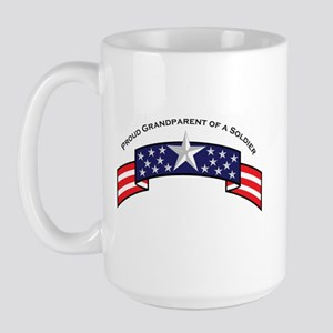 Proud Grandparent of a Soldie Large Mug