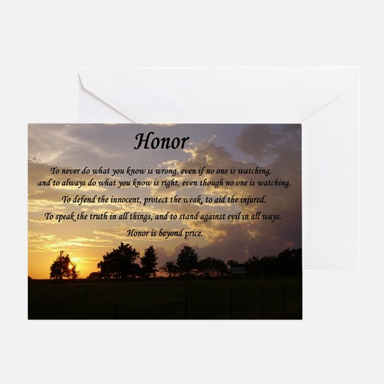 Honor Greeting Card