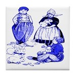 Dutch Children Blue Tile