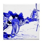 Blue Dutch Children Tile