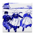 Blue Dutch Children on Tile