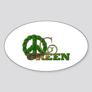 Go Green 2 Oval Sticker