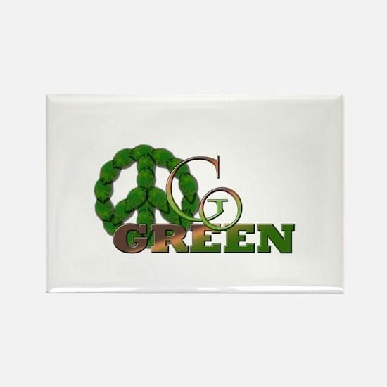 Go Green 2 Rectangle Magnet