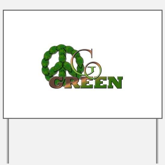 Go Green 2 Yard Sign