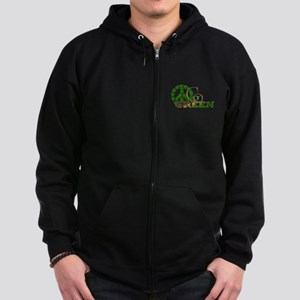 Go Green 2 Zip Hoodie (dark)