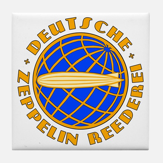 Vintage Zeppelin Company Tile Coaster