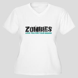 Zombies Women's Plus Size V-Neck T-Shirt