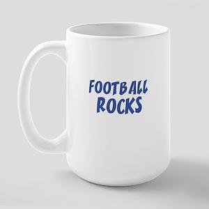FOOTBALL ROCKS Large Mug
