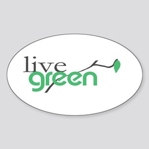 LiveGreen4 Oval Sticker