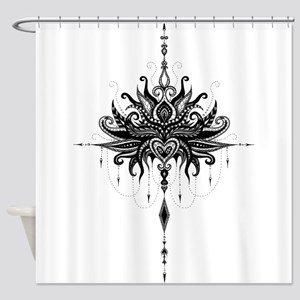 Lotusmandala Shower Curtain