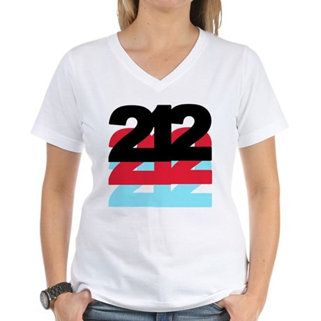 212 Area Code Women's V-Neck T-Shirt
