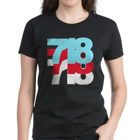718 Area Code Women's Dark T-Shirt