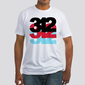 312 Area Code Fitted T-Shirt