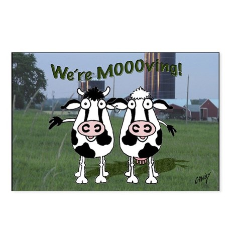 Cows Moving Postcards (Package of 8)